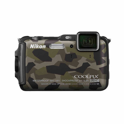 Nikon Camo COOLPIX AW120 Digital Camera with 16 Megapixels and 5x Optical Zoom