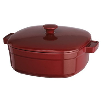 KitchenAid Streamline Cast Iron Casserole - Red (6 Qt.)