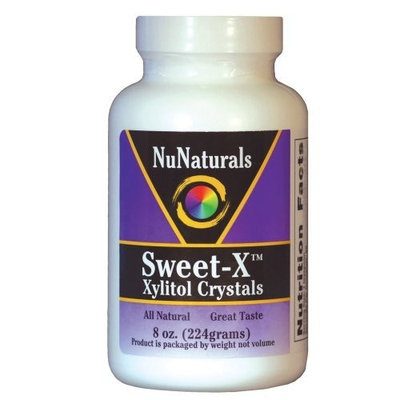 NuNaturals Sweet-X Xylitol Crystals Powder, 8-Ounce (Pack of 2)