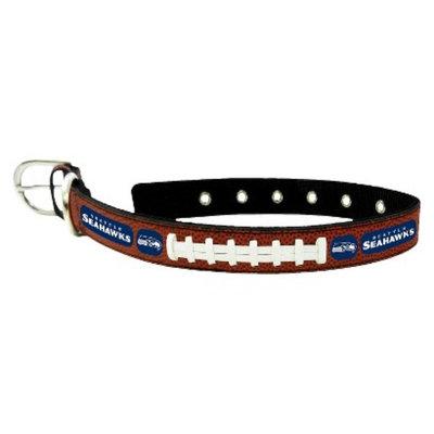 GameWear Seattle Seahawks Classic Leather Medium Football Collar
