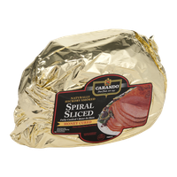 Carando Spiral Sliced Fully Cooked Bone-In Ham Honey Cured
