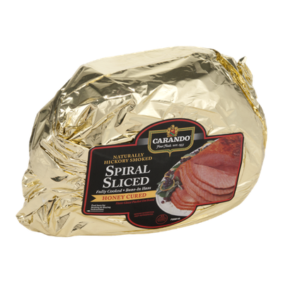 Carando Spiral Sliced Fully Cooked Bone-In Ham Honey Cured