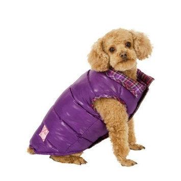 Fashion Pet Purple Reversible Puffy Dog Vest Large