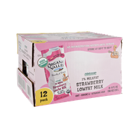 Organic Valley Organic 1% Milkfat Strawberry Lowfat Milk - 12 PK