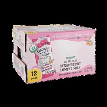 Organic Valley® Organic 1% Milkfat Strawberry Lowfat Milk