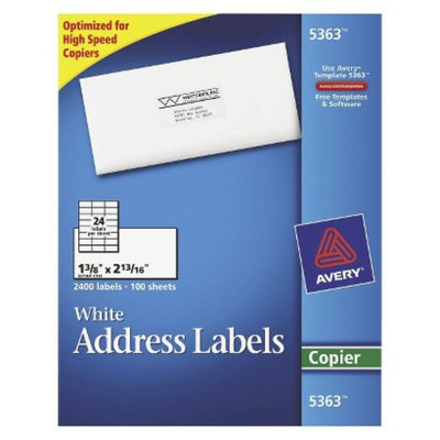 Avery  Self-Adhesive Copiers Address Labels - White