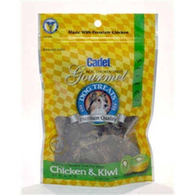 Cadet Chicken and Kiwi Treat for Dogs, 4-Ounce Bag
