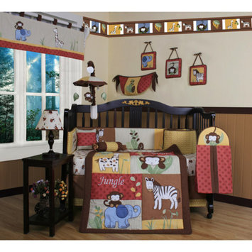 Geenny Boutique Amazon Jungle Animal 13 Piece Crib Bedding Set