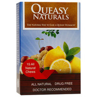 Queasy Naturals Chews, Sour Lemon, Wild Cherry, Ginger, 15 ea