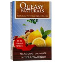 Queasy Naturals Chews, Sour Lemon, Wild Cherry, Ginger, 15 ea