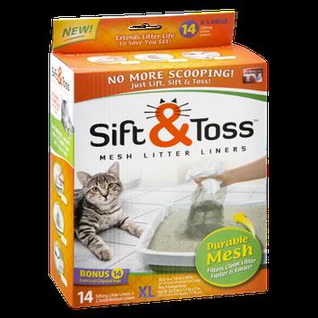 As Seen On TV Sift & Toss XL Mesh Litter Liners - 14 CT