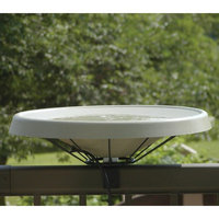 Bird's Choice Birds Choice Olive Green Deck-Mount Heated Bird Bath