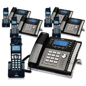 Ge/rca RCA ViSYS 25424RE1 & H5401RE1 (5-Pack) GE / RCA Cordless / Corded Phone System
