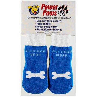 Woodrow Wear Power Paws Advanced Large Blue/Bone