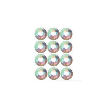 Swarovski Flatback Rhinestone #2028 Ss12 Crystal Ab (1440)