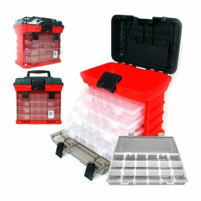 Trademark Tools 73 Compartment Durable Plastic Storage Tool
