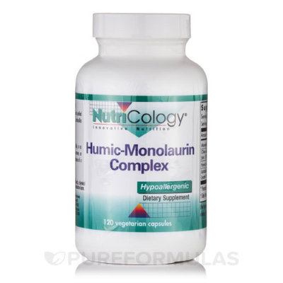 Nutricology/allergy Research Nutricology - Humic-Monolaurin Complex - 120 Vegetarian Capsules