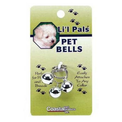 Coastal Pet Products DCP45105 3-Pack Li'l Pals Round Dog Bells, 1/2-Inch, Silver