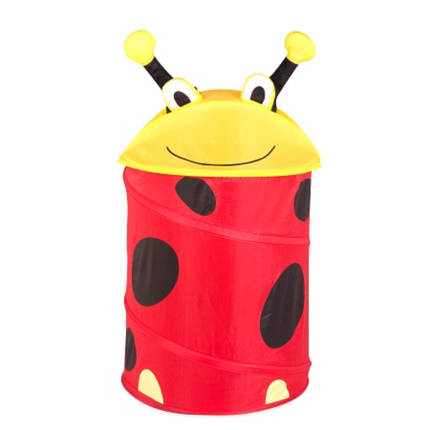 Honey Can Do Medium Kid's Pop Up Hamper Lady Bug