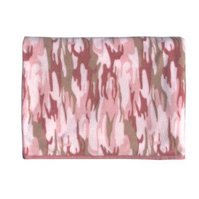 Rothco Camouflage Fleece Blankets, Baby Pink Camo