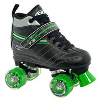 Roller Derby Boy's  Laser 7.9 Speed Quad Skate - Black/ Green (5)