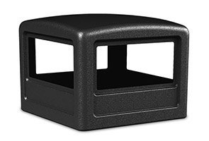 Commercial Zone Square Ashtray Dome Lid Color: Forest Green