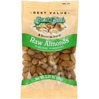 Snak Club Almonds, Raw, 3.25 Ounce (Pack of 6)