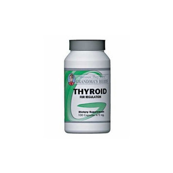 Grandma's Herbs Thyroid - Herbal Thyroid Remedy for Thyroid Regulation - 100 Capsules