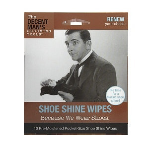The Decent Man's Grooming Tools Shoe Shine Wipes