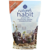Nature's Habit Granola with Cranberries, Cherries, Almonds and Pecans, 12-Ounce Pouches (Pack of 6)