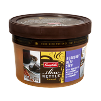 Campbell's® Slow Kettle Burgundy Beef Stew with Baby Bella Mushrooms, Roasted Garlic & Rosemary Soup