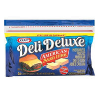 Kraft Deli Deluxe American Cheese Slices 16 oz 24 ct