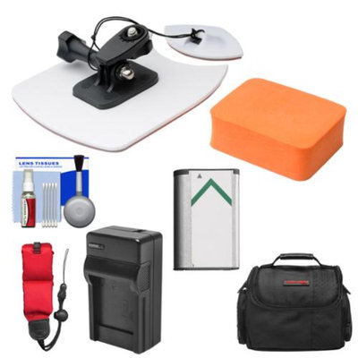 Vivitar Essentials Bundle for Sony Action Cam HDR-AS30V, AS15 & AS100V Camcorders with Surfboard Mount + Battery + Charger + Case + Floating Strap + Accessory Kit
