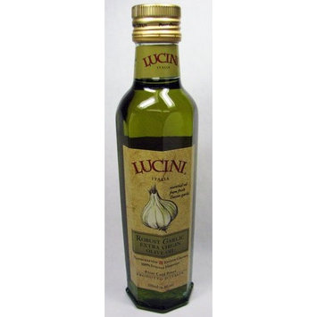 Lucini Italia Lucini Extra Virgin Olive Oil, Robust Garlic Glass Bottle, 8.5-Ounce