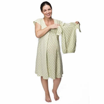 Baby Be Mine Charlotte Nursing NightGown with Romper, Green, XL, 1 ea