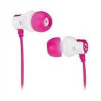 Memorex CB25 Comfort and Style Earbuds, Pink