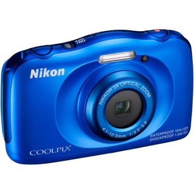 Nikon Coolpix S33 Shock & Waterproof Digital Camera (Blue)