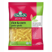 OrgraN Ris'O'Mais Rice & Corn Pasta, Spirals, 8.8-Ounce Packages (Pack of 7)
