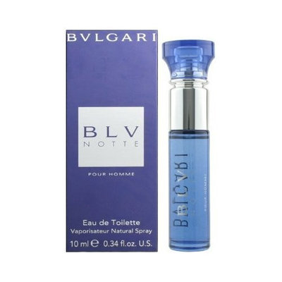 Bvlgari BLV Notte Pour Homme 0.34 oz 10 ml Eau de Toilette Travel Spray
