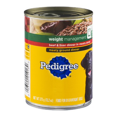 Pedigree® Weight Management Beef and Liver Meaty Ground Dinner