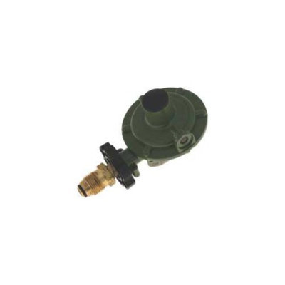 MARSHALL EXCELSIOR COMPANY Marshall Excelsior MEGR-218 Single Stage Regulator, 11 In. Wc, 90 Degree Vent, Sn Ff Pol With Plastic Handwheel X 3/8 In. Fnpt - 2