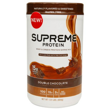 Supreme Protein Whey & Casein Protein Shake Mix Double Chocolate