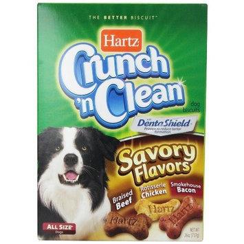 Hartz Crunch n Clean Savory Flavors Dog Treat Biscuit 26 oz