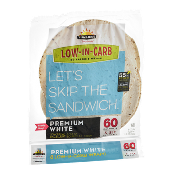 Tumaro's Wraps Low-In-Carb Premium White - 8 CT