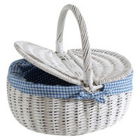 Cycle Force Nantucket Bicycle Basket Co. Steps Beach Collection Picnic Basket -