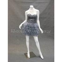 Roxy Display (MD-A2BW1) Headless Female Mannequin White Fiber Glass