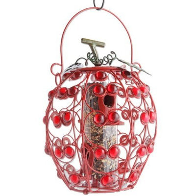 Exhart Apple Shaped Seed Feeder with 4 Ports (Discontinued by Manufacturer)