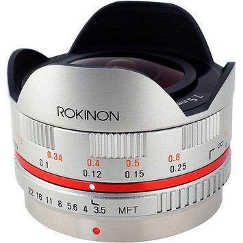 Rokinon 7.5mm F3.5 UMC Ultra Wide-Angle Fisheye CS Lens for Micro 4/3, Silver