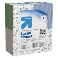 up & up Facial Tissue 80 ct, 4 pk
