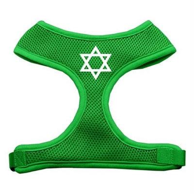 Mirage Pet Products 7026 MDEG Star of David Screen Print Soft Mesh Harness Emerald Green Medium